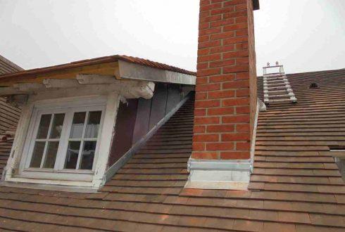 Toiture en tuiles plates tuiles phalempin à Bourg-La-Reine