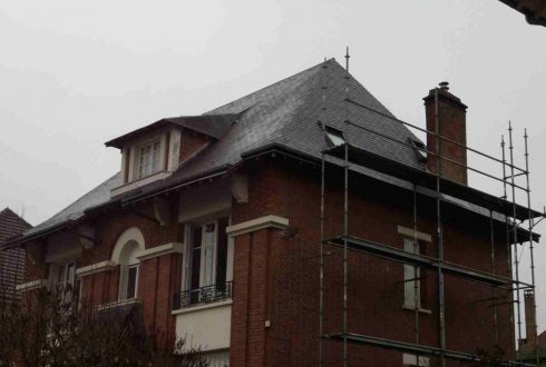Rénovation d'une toiture en ardoise à Antony