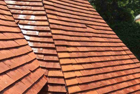 Nettoyage de la toiture, traitement hydrofuge et Algimouss